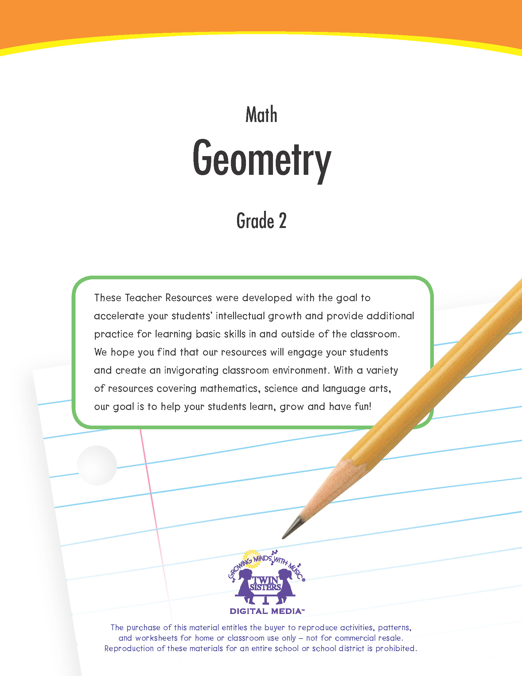 Math Grade 2: Geometry | Twin Sisters