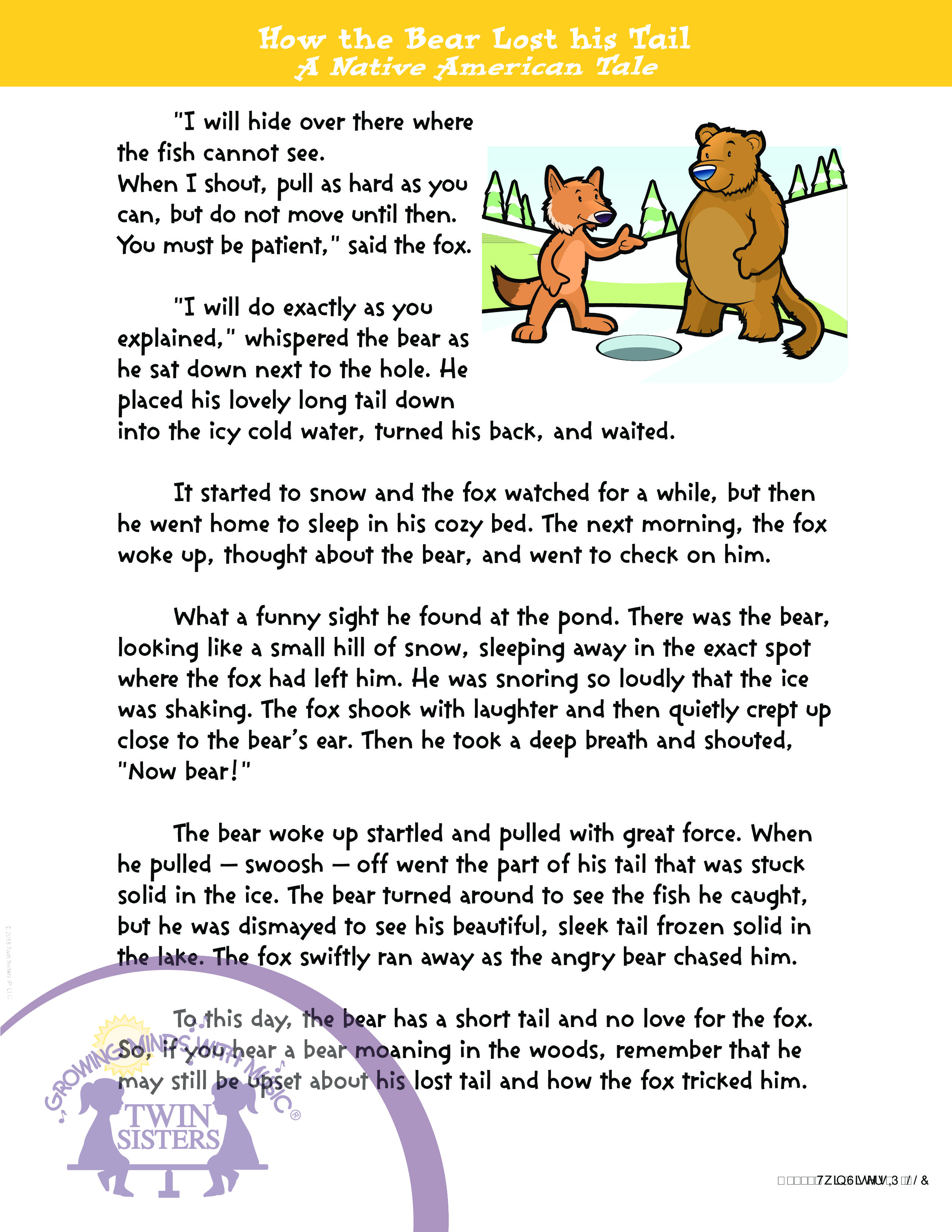 - Grade 4: Reading Comprehension Volume 1 Twin Sisters