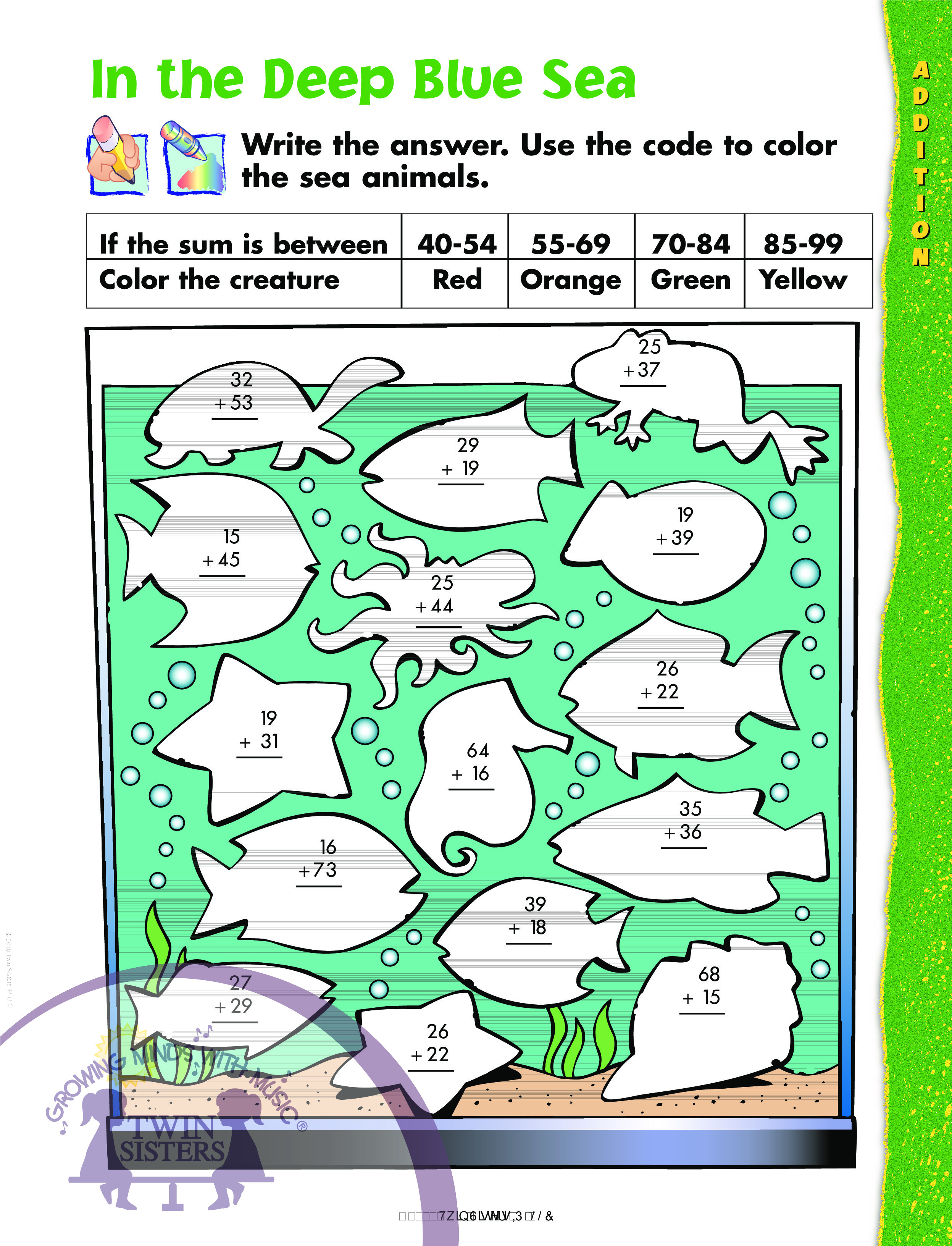 Kindergarten Learning: 2-Digit and 3-Digit Addition and Subtraction ...