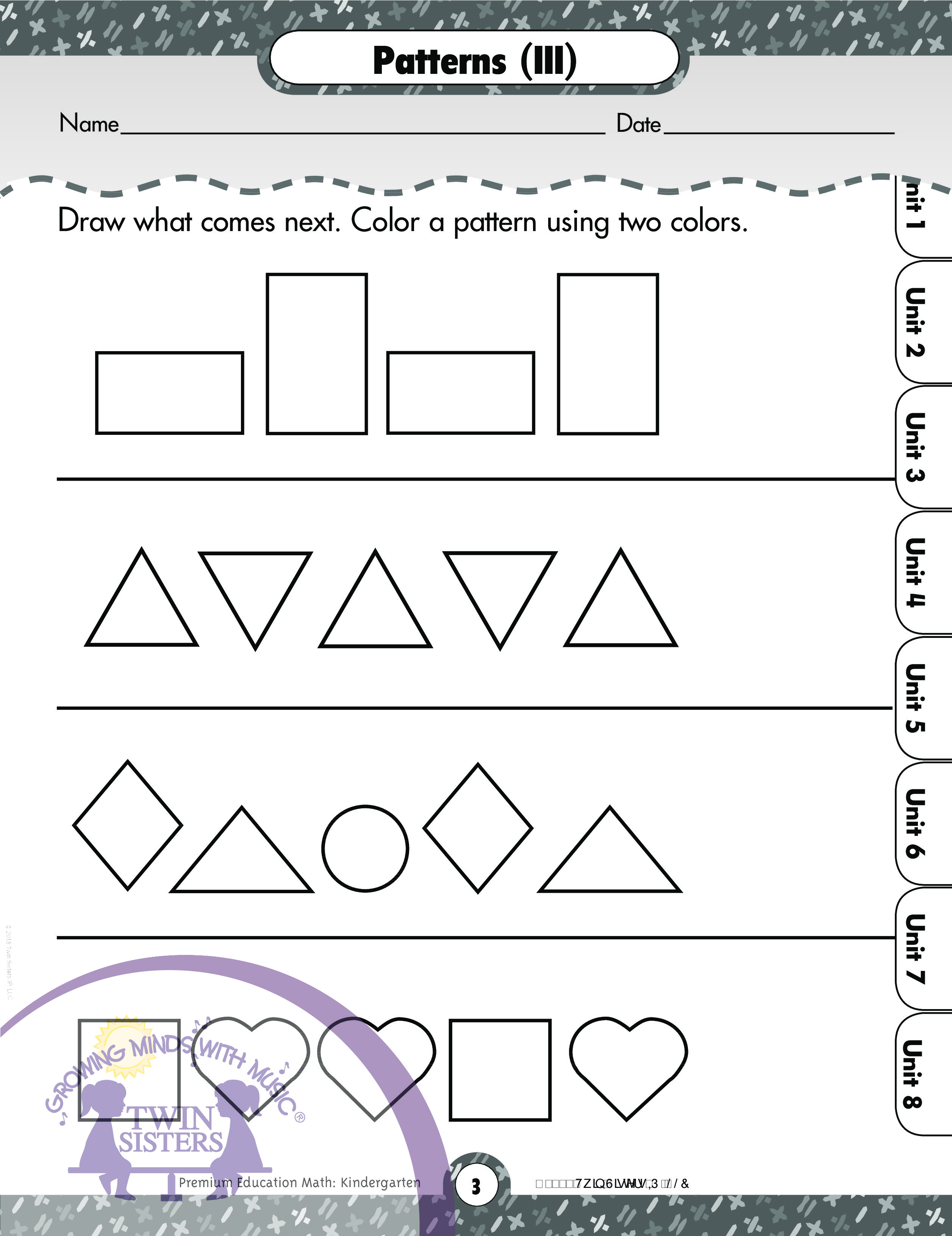Patterns For Kindergarten Custom Design